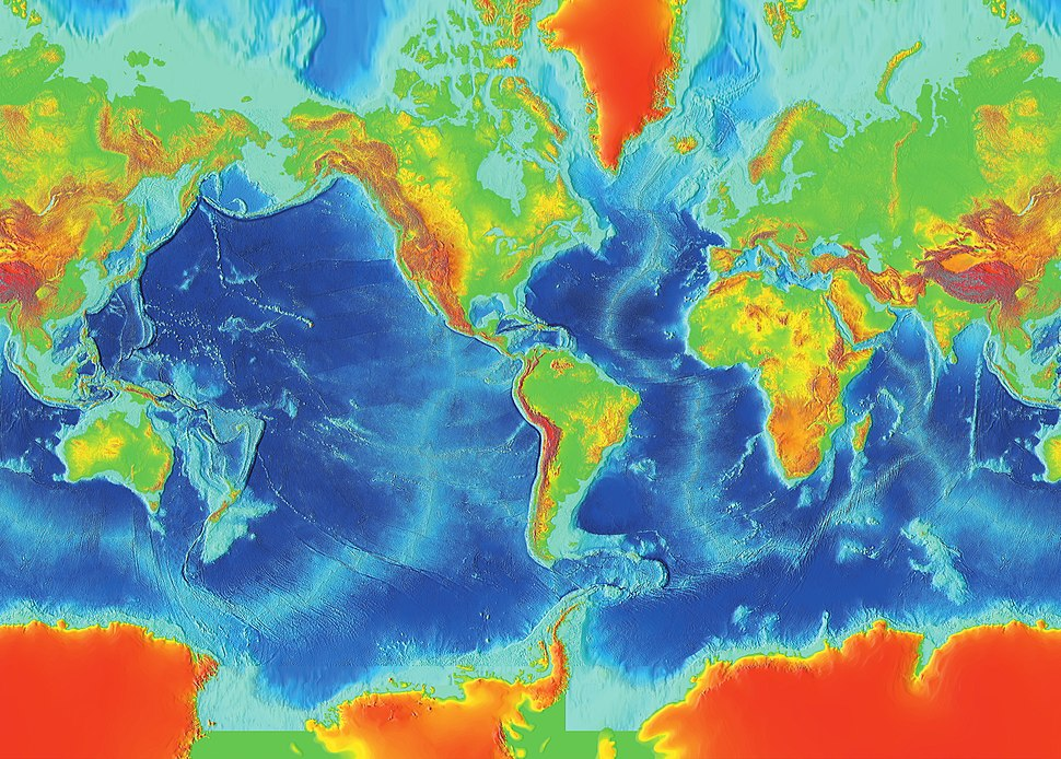 Earth surface NGDC 2000