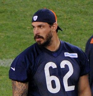 Eben Britton - Britton at Chicago Bears training camp in 2014.