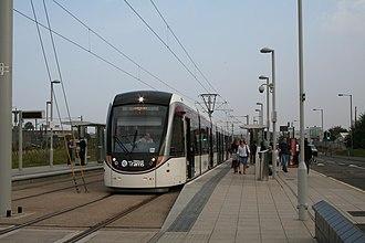Edinburgh Park railway station - Edinburgh Park station tram stop