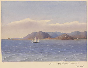 Edward Gennys Fanshawe, Pula, Bay of Cagliari, June 1857 (Sardinia).jpg