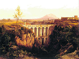 Civita Castellana in un dipinto di Edward Lear (1844)