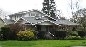 American Craftsman - The Edward Schulmerich House in Hillsboro, Oregon, completed in 1915.