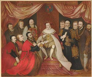 King Edward's School, Witley - King Edward VI, the school's founder awarding the charter