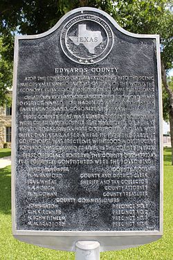 Edwards county, rocksprings, texas historical marker (7914383976)