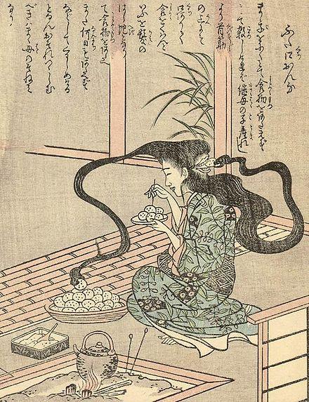 http://upload.wikimedia.org/wikipedia/commons/thumb/1/1c/Ehon_Hyaku_Monogatari_Futakuchi-onna.jpg/440px-Ehon_Hyaku_Monogatari_Futakuchi-onna.jpg