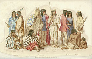 """Balduin Möllhausen - """"The indigenous people of northern New Mexico"""" by Balduin Möllhausen, 1861."""