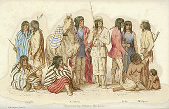 "Battle of Pecos River - ""The indigenous people of northern New Mexico"" by Balduin Möllhausen, 1861."
