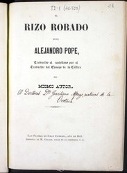 Alexander Pope: El rizo robado