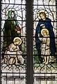 Elenora window, St Margarets church, Margaretting - depicting St Agnes (13227240255).jpg