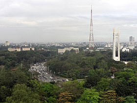 Elliptical Road, QMC monument tower, PTV-4 transmitter (Diliman, Quezon City)(2018-02-07).jpg