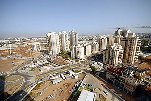 Petah Tikva - New housing under construction in Em HaMoshavot