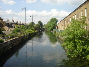 Enfield Island Village - The River Lea flows through the island