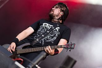 Entombed A.D. - Bassist Victor Brandt with Entombed A.D. at the Rockharz Open Air 2016 in Germany