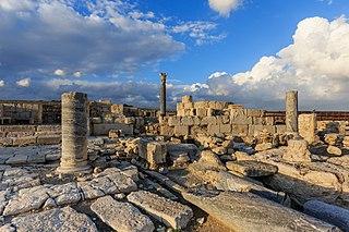 Kourion Ancient city, excavation area