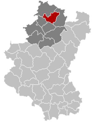 Érezée - Image: Erezée Luxembourg Belgium Map