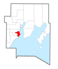 Location within Delta County