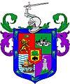 Escudo de Juan Porcel de Padilla Vecino de Puerto Viejo, Alcalde Ordinario de Santiago de la Culata, Fundador de Nueva Jerez de la Frontera 2.XII.1568.JPG