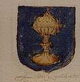 Escudo do reino de Galicia (II) no Universeel wapenboek, 1558.jpg