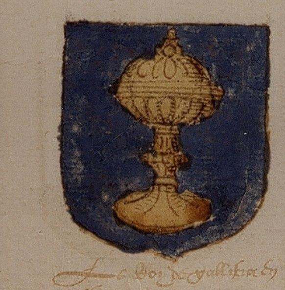 Escudo do reino de Galicia (II) no Universeel wapenboek, 1558