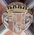 Escut dels Reis Catòlics a Sant Jeroni de la Murtra.JPG