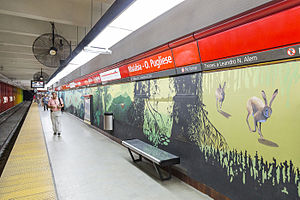 Malabia - Osvaldo Pugliese (Buenos Aires Underground) - Image: Estacion malabia
