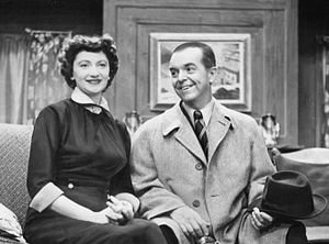 Alan Coe Bunce - Bunce with Peg Lynch as Ethel and Albert, 1954.