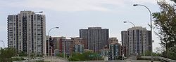 Etobicoke's central skyline in 2009