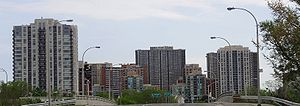 Etobicoke - Etobicoke's central skyline in 2009