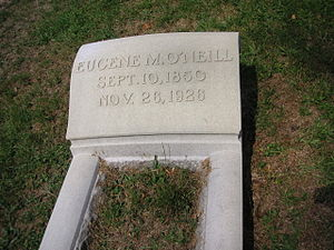 Eugene M. O'Neill - Grave of Eugene M O'Neill at Allegheny Cemetery in Pittsburgh