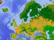 Europe land use map