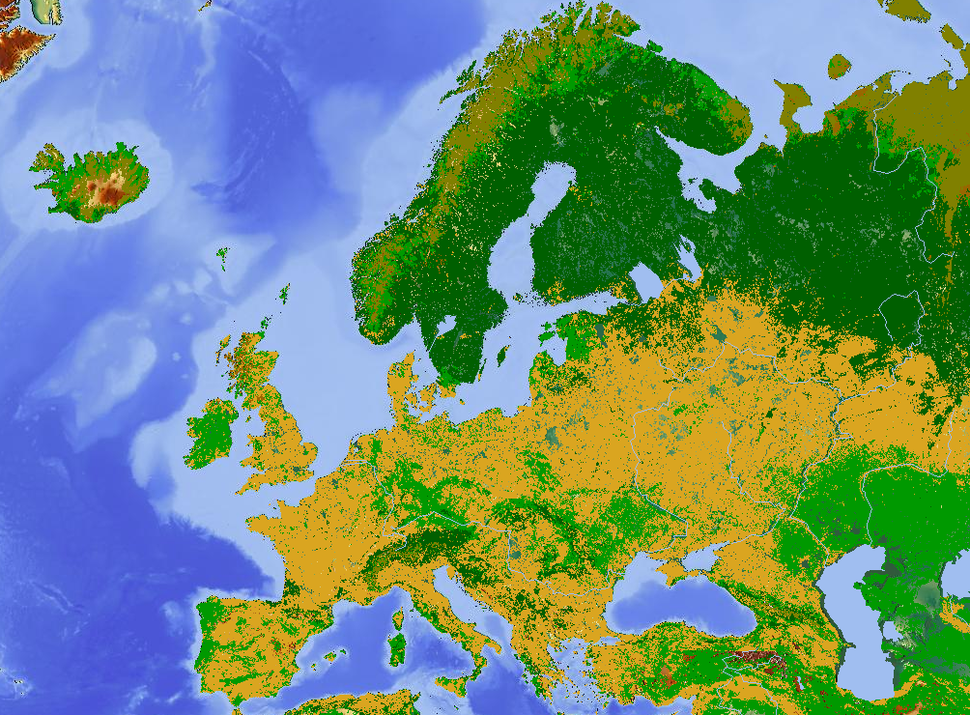 Europe land use map