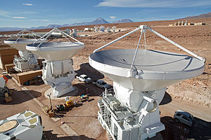 National Astronomical Observatory of Japan - Image: European Antennas at ALMA's Operations Support Facility