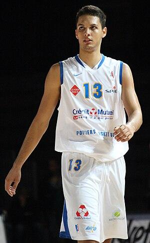 English: French basketball player Evan Fournie...