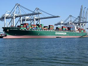 Ever Charming p3, at the Amazone harbour, Port of Rotterdam, Holland 10-Sep-2006.jpg