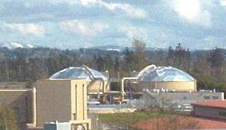 Veolia Water - A lagoon used for sewage treatment along Interstate 5 in Everett, Washington
