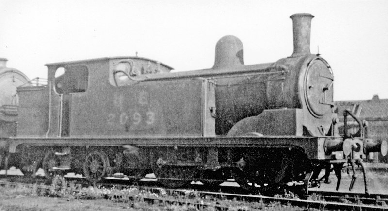 File:Ex-NER 0-4-4T in Stratford Locomotive Shed yard, 1946 (geograph 4800336).jpg