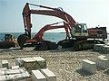 Excavators, Marine Parade, Lyme Regis - geograph.org.uk - 231664.jpg