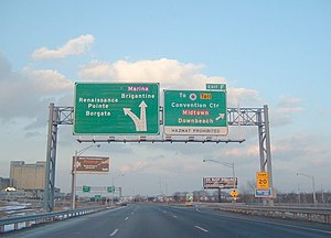 Atlantic City–Brigantine Connector - Exit F traveling northbound