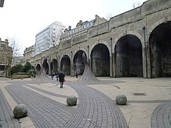 Exiting Forster Square station (geograph 3429527).jpg