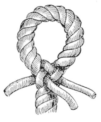 Eye splice - Eye splice from Alpheus Hyatt Verrill's 1917 Knots, Splices and Rope Work