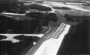 Enschede Airport Twente - Lockheed F-104 Starfighters on the ramp at Twente in the early 1960s