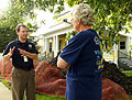 FEMA - 30737 - FEMA Official talks to a resident in South Dakota.jpg