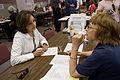 FEMA - 36466 - Nancy Montanez-Johner and a FEMA worker at a DRC in Iowa.jpg