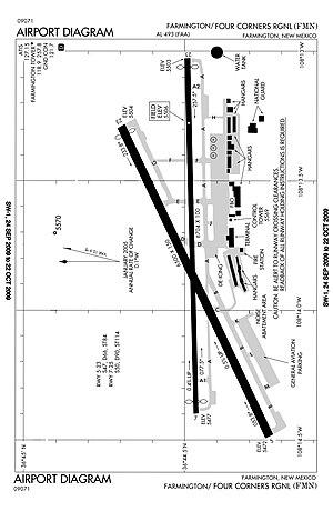 Four Corners Regional Airport - FAA diagram