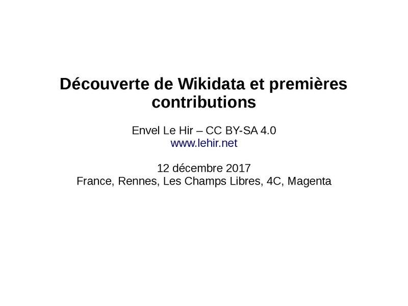 File:FR - Atelier Wikidata Premières contributions (décembre 2017, Rennes).pdf