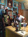 "Fabian Marley with mentor's Bunny Wailer and Clayton ""Massive"" Thomas.jpg"