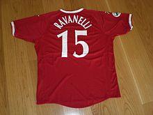 L'ultima maglia da calciatore di Ravanelli, quella del Perugia nella stagione 2004-2005. L'attaccante, perugino di nascita, ha iniziato e chiuso la carriera col club umbro.