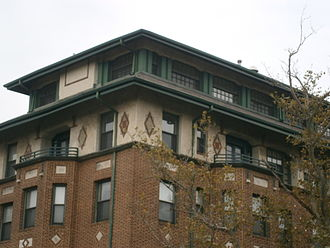 Fairmount Apartments (Jersey City, New Jersey) - Arts and Crafts architectural detail