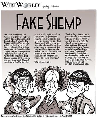 Commotion on the Ocean - Image: Fake Shemp comic