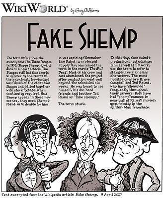 Fake Shemp - Image: Fake Shemp comic